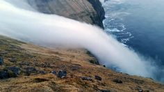 Phenomenon: The fog waterfall in Iceland. (CEN)
