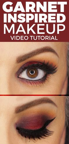 https://youtu.be/kWz-NciaPOw Garnet Inspired Makeup Look | January Birthstone. This beautiful burgundy color is really amazing specially if you have dark brown and black hair.
