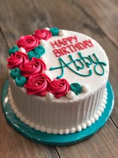 52 Ideas Cupcakes Birthday Cake Design For 2019 Easy Cake Decorating, Birthday Cake Decorating, Cake Birthday, Decorating Ideas, Birthday Ideas, Simple Birthday Cakes, Simple Birthday Cake Designs, Birthday Cake With Roses, Flower Birthday Cakes