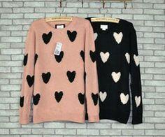 Cute heart sweaters