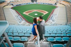 Take Me Out to the Ball Game! {Rebecca + Peter, Dodger Stadium Engagement Session} » Temecula Wedding Photographer Leah Marie