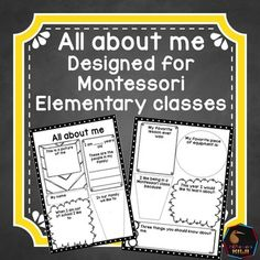 An 'all about me'  printable designed specifically for Montessori Elementary classes. As well as featuring classic 'about me' questions such as - Who is in your family?- What are you good at? This printable has some Montessori questions too such as - My favorite lesson ever was .....- I like being in a Montessori class because.....3 pagesFor all my Montessori back to school materials click hereFor Montessori 6-9 (Elementary) resources click hereCustomer Tips: How to get TPT credit to use on…