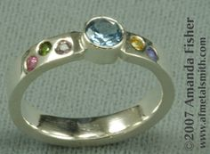 Amanda Fisher : Mother's Ring: Birthstone Ring with accent (birth)stones