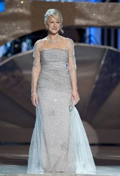 Once again, Helen Mirren finds a dress perfectly suited to her.  This looks light and easy to wear.