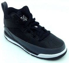 watch 9f585 2526e Jordan Flight 9.5 BP Kids Shoes Black White Dark Grey 654976-005 Size