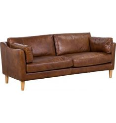 Nordic 3 Seat Sofa Nordic Sofa, Weathered Oak, Leather Sofa, Cow Leather, 3 Seater Sofa
