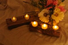 Fall Wedding Decor, Log Candle Holder, Eco-Friendly Decorating, Bridal Shower, Baby Shower, 2 logs on Etsy, $51.58 CAD