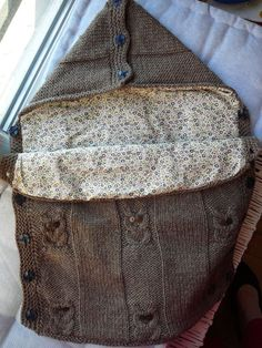 patron tricot nid d ange bébé gratuit