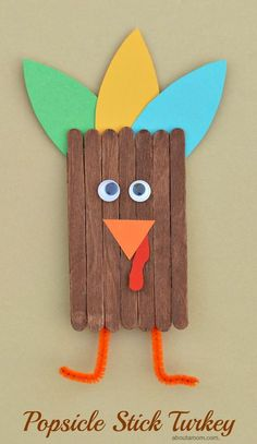 This popsicle stick turkey craft is a great way to get kids excited and involved in the Thanksgiving festivities. This popsicle stick turkey craft is a great way to get kids excited and involved in the Thanksgiving festivities. Thanksgiving Arts And Crafts, Fall Arts And Crafts, Easy Fall Crafts, Holiday Crafts, Kids Thanksgiving, Fall Crafts For Kids, Diy Turkey Crafts, Turkey Crafts For Preschool, Thanksgiving Activities For Kids
