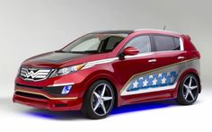Wonder Woman Kia!!! I want one! Of course shouldn't a wonder woman car actually be an American made car? Personally opinion...still looks cool!