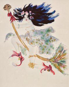 leonor-fini-estampes-lithographie-la-sorciere-bleue