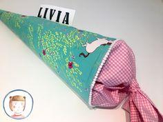 Schultüten - Schultüte aus Stoff für Mädchen Zuckertüte Pferde - ein Designerstück von LottiKlein bei DaWanda