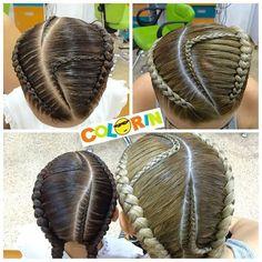 #inspirado en @trenceriadelflow invitó s seguir esta talentosa #peluqueria ubicada en #barcelona más #trenzas y #peinados en #colorin #cucutamañana tendremos esta bella #trenzasafricanas en nuestro canal de YouTube #braids #braid #braidsforgirls #girls #girl #hair Little Girl Hairstyles, Trendy Hairstyles, Braided Hairstyles, Black Girl Braids, Girls Braids, Afro, Natural Hair Styles, Long Hair Styles, Baby Girl Hair