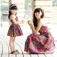 Family fashion summer 2013 family fashion spring clothes for mother and daughter 2013 family set female child one-piece dress