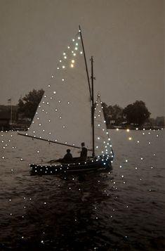 Boat -  Lake - Inspiration - Moment - Momento -  Inspiração - Barco a vela - lago - Noite  - Night