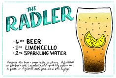 Oh So Beautiful Paper: Friday Happy Hour: The Radler - Beer, Limoncello, Sparkling water.