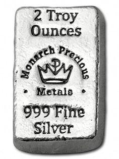 2 oz Monarch Hand Poured Silver Bar (New) Bullion Coins, Silver Bullion, Chunky Bar, Celtic Tree Of Life, Silver Bars, Edge Design, Silver Coins, Precious Metals, At Least
