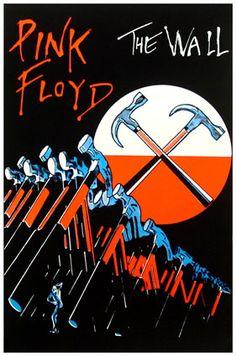 Pink Floyd The Wall poster Arte Pink Floyd, Pink Floyd Wall, Pink Floyd Poster, Rock Posters, Band Posters, Music Posters, Retro Posters, Pop Rock, Rock N Roll