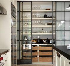 nice pantry and doors