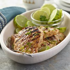 Add some flair to your traditional grilled chicken. Honey mustard, garlic, lime, and soy sauce bring serious flavor to this Lime‑Grilled Chicken Breast #HEBRecipe.
