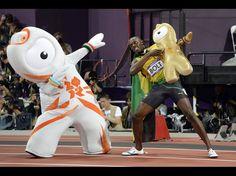 Usain Bolt and Wenlock
