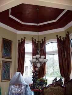 Beautiful faux painted ceiling