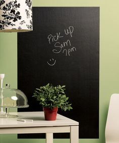 Take a look at this Big Chalkboard Wall Decal by WALLIES on #zulily today!