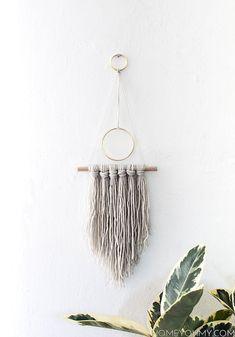Modern yarn hanging DIY-2