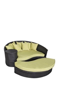 Taiji Outdoor Wicker Patio Daybed with Ottoman - Espresso/Peridot by Modway on @HauteLook    Want this!