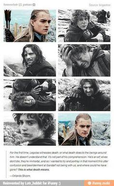 Orlando Bloom on portraying Legolas witnessing death