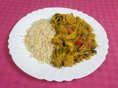 Curry met groenten, vegan kipstuckjes en rijst | www.liefde-voor-veganisme.net