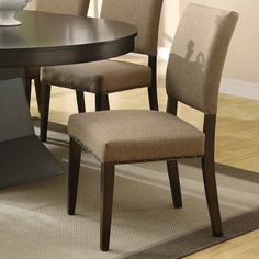 Coaster 103572 Myrtle Dining Side Chair With Nailhead Trim Set Of 2