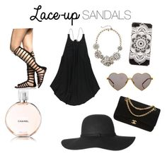"""""""Summer"""" by caitlingoats ❤ liked on Polyvore featuring O'Neill, J.Crew, Wildfox, Chanel, BlackMoon, contestentry, laceupsandals and PVStyleInsiderContest"""