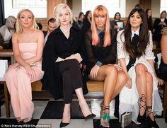 Helen George, Portia Freeman, Amber le Bon and Zara Martin at Bora Aksu LFW February 2016