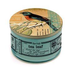 tea tin------ Im a sucker for a tea tin, Im a sucker for a blue bird, a tea tin with a blue bird and I am in my purse counting change.