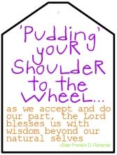 { Mormon Share } Pudding Your Shoulder to the Wheel Missionary Care Packages, Missionary Mom, Young Women Handouts, Trek Ideas, Yw Handouts, Pioneer Trek, Family Home Evening, Personal Progress, Visiting Teaching