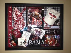 Shadow box My sister, daughter and I made for our trip to the National Championship. Love it!