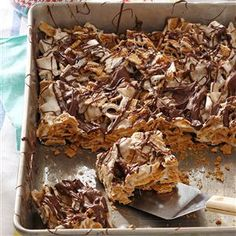 Chocolaty S'mores Bars Recipe from Taste of Home