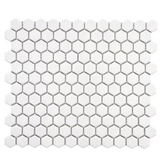 SomerTile 10.25x11.75-in Victorian Hex 1-in White Porcelain Mosaic Tile (Pack of 10) - Overstock Shopping - Big Discounts on Somertile Wall Tiles