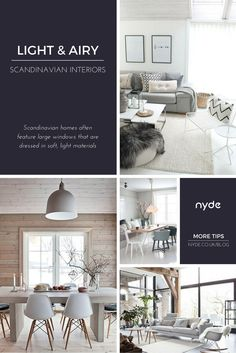 Scandinavian homes often feature large windows dressed in a soft, light material, such as cotton, to make the room feel bright and open. Read the full post here: https://nyde.co.uk/blog/scandinavian-interiors-ideas/?utm_source=Pinterest&utm_medium=Social&utm_campaign=Scandinavian%20Interiors