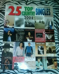 25 Top Country Singles! piano, vocals, chords/2004 Method/Instruction Book