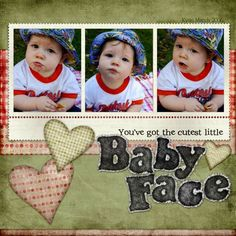 Awesome scrapbook layouts for babies