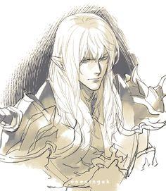 Estinien Final Fantasy Xiv, Fantasy Art, Fantasy Characters, D D Characters, Comic Character, Character Design, Man Illustration, Sad Art, Guy Pictures