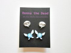 Hey, I found this really awesome Etsy listing at https://www.etsy.com/listing/100194757/hey-listen-navi-post-earrings-set-of-two