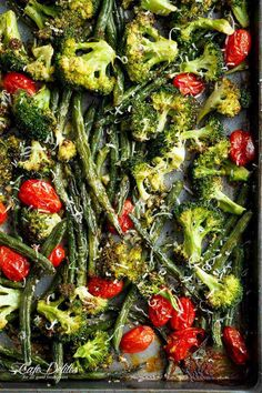 Sheet Pan Garlic Parmesan Roasted Broccoli & Green Beans is an easy-to-make and easier to eat side dish for any meal! A family and reader favourite!