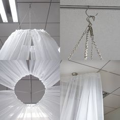 Ceiling Curtains, Voile Curtains, Sheer Curtain Panels, Sheer Drapes, Ceiling Panels, Panel Curtains, Fabric Ceiling, Tulle Ceiling, Curtain Fabric