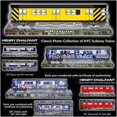 Classic originaL NYC Subway Graffiti Train collection . part of the Henry Chalfant, Revamp project. designed and created to be collected .. learn more about this project and how u can take part and collect or customizes ur very own.. #graffiti #trains #streetart #subways #urbanart