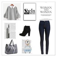 """""""SheIn 2/XIV"""" by nermina-okanovic ❤ liked on Polyvore featuring Barbour, Balmain, Marc Jacobs, MAC Cosmetics and shein"""