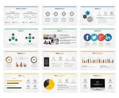 Flat PowerPoint Presentation by Creative Fox on Creative Market
