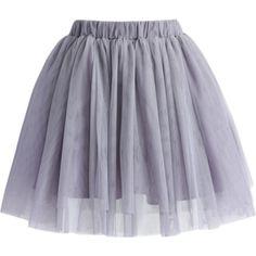 Grey gray tule skirt